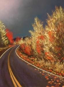 Road with Red Leaves